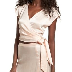Beautiful peach wrap blouse by Leith